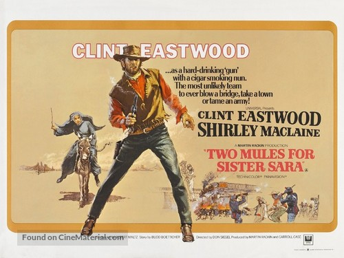 Two Mules for Sister Sara - British Movie Poster