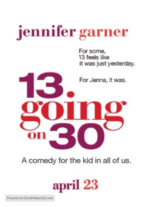 13 Going On 30 - Movie Poster