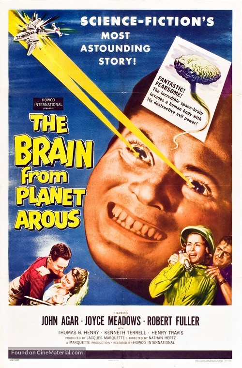 The Brain from Planet Arous - Movie Poster