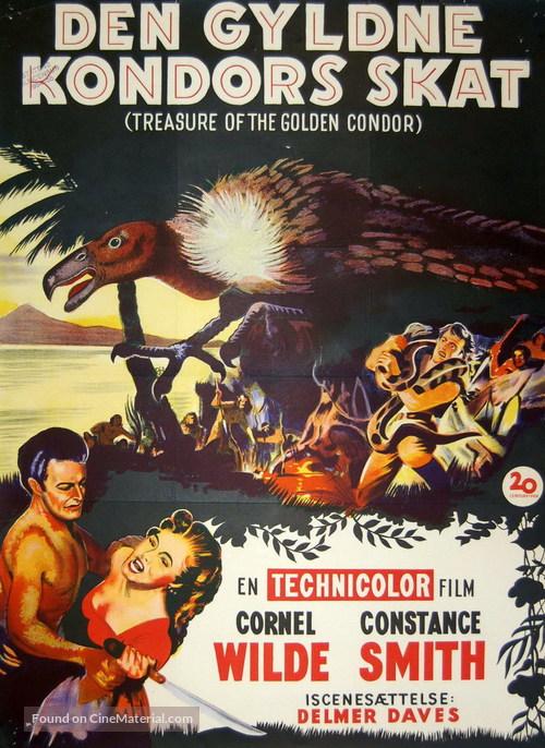 Treasure of the Golden Condor - Danish Movie Poster