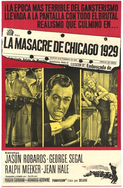 The St. Valentine's Day Massacre - Mexican Movie Poster