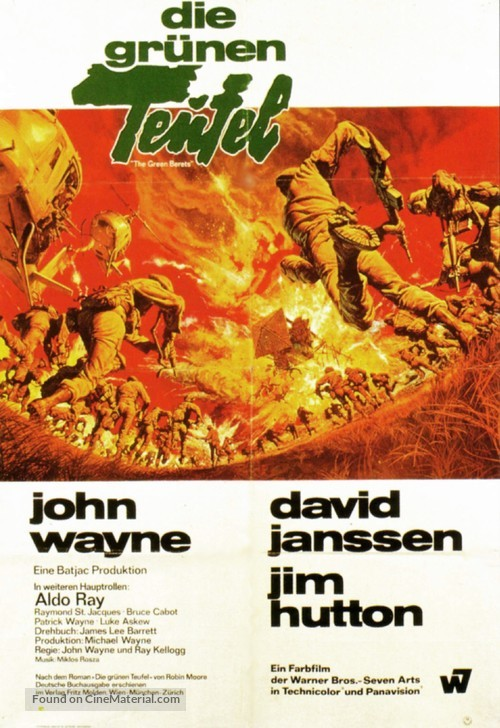 The Green Berets - German Movie Poster