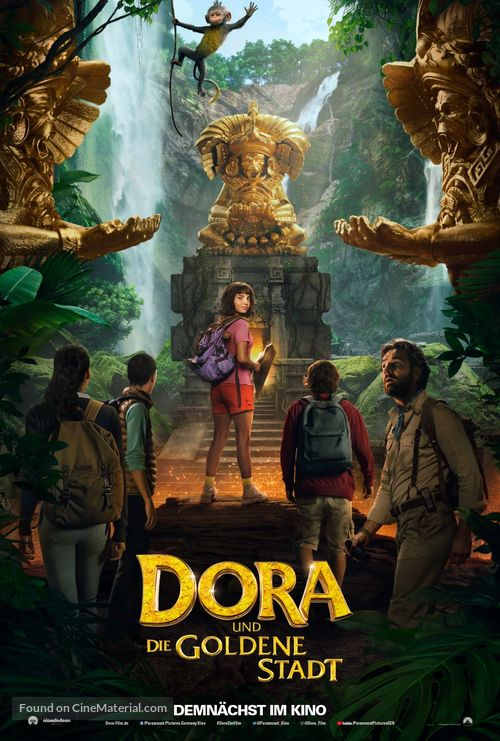 Dora and the Lost City of Gold - German Movie Poster