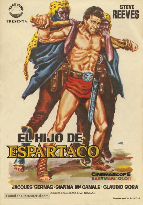 Il figlio di Spartacus - Spanish Movie Poster