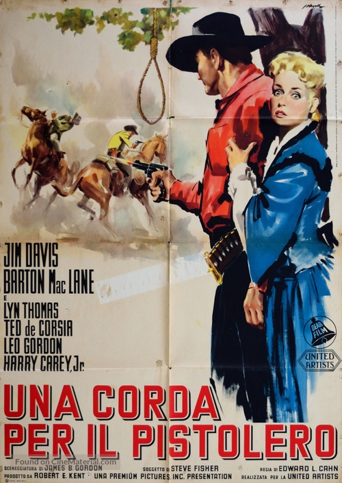Noose for a Gunman - Italian Movie Poster