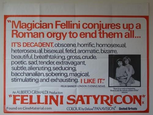 Fellini - Satyricon - poster