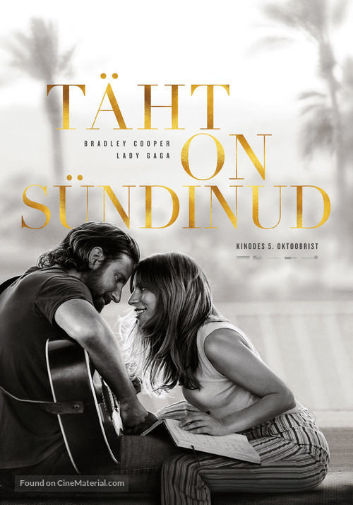 A Star Is Born - Estonian Movie Poster