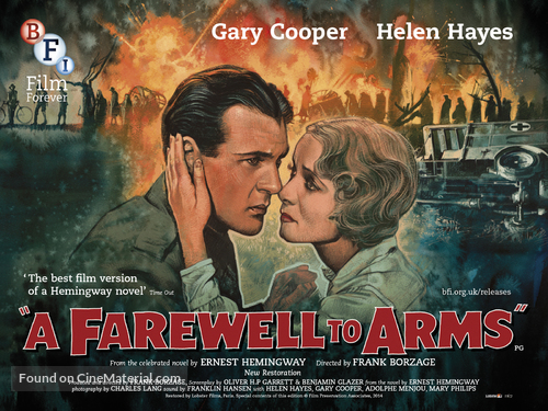 A Farewell to Arms - British Movie Poster