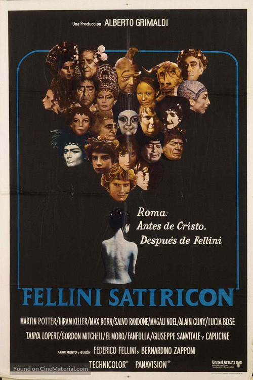 Fellini - Satyricon - Argentinian Movie Poster