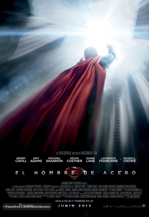 Man of Steel - Argentinian Movie Poster