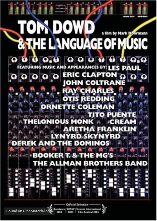 Tom Dowd & the Language of Music - poster