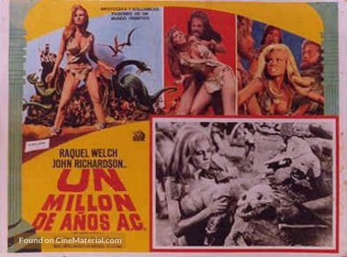 One Million Years B.C. - Mexican Movie Poster