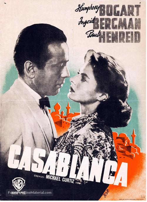 Casablanca - Finnish Movie Poster