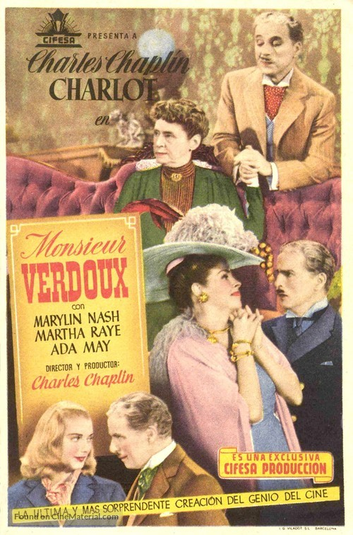 Monsieur Verdoux - Spanish Movie Poster