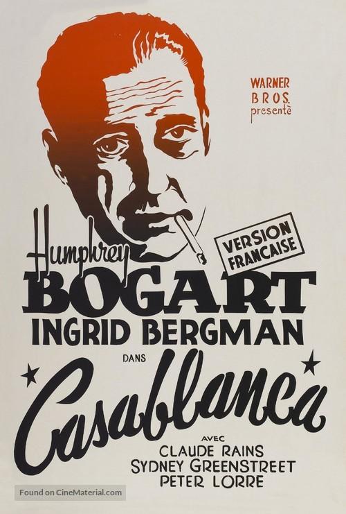 Casablanca - French Movie Poster