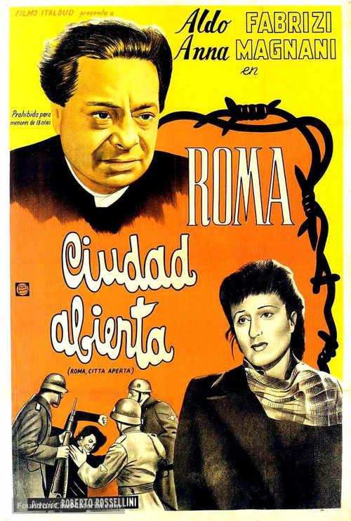 Roma, città aperta - Argentinian Movie Poster