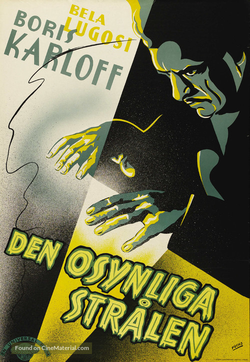 The Invisible Ray - Swedish Movie Poster