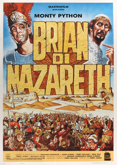Life Of Brian - Italian Movie Poster