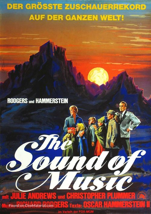 The Sound of Music - German Movie Poster