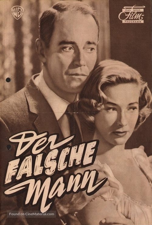 The Wrong Man - German poster