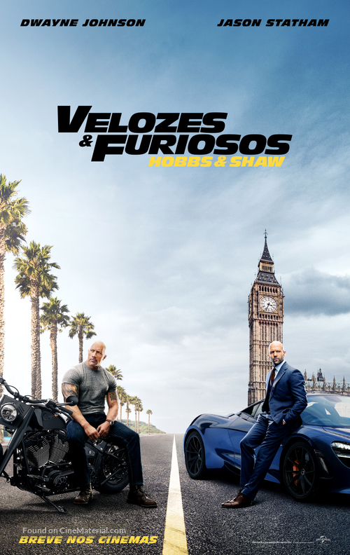Fast & Furious Presents: Hobbs & Shaw - Brazilian Movie Poster
