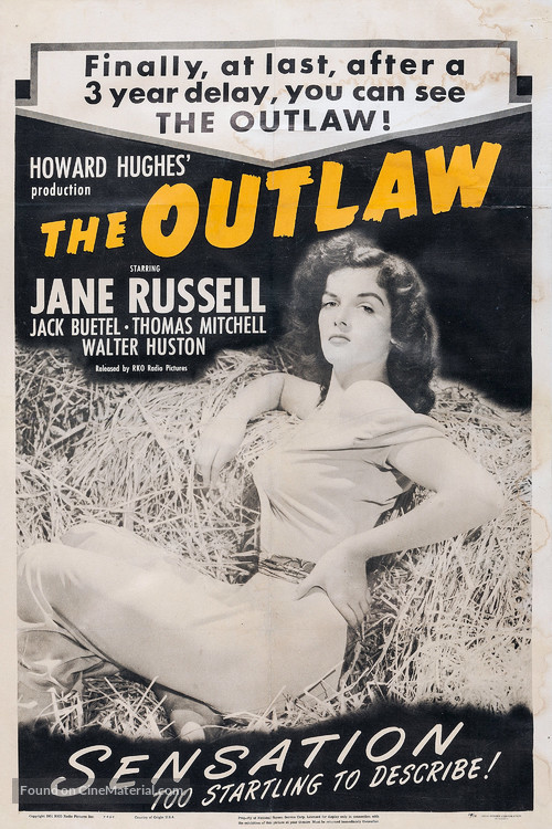 The Outlaw - Re-release movie poster