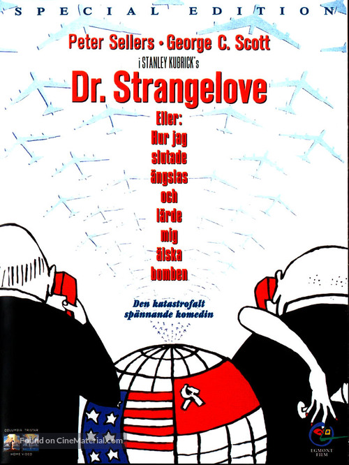 Dr. Strangelove - Swedish DVD cover