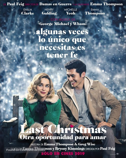 Last Christmas - Mexican Movie Poster