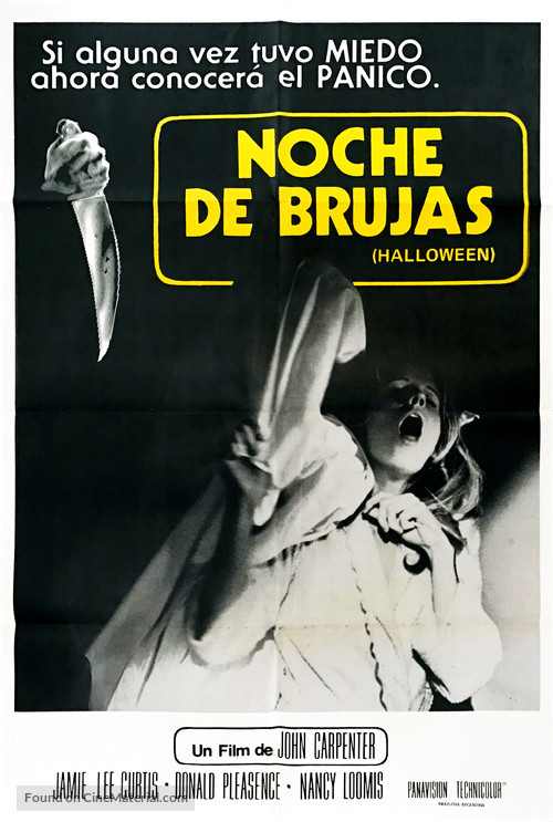 Halloween 1978 Movie Poster.Halloween 1978 Argentinian Movie Poster