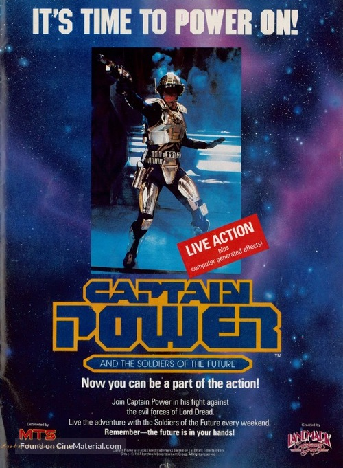 """""""Captain Power and the Soldiers of the Future"""" - Movie Poster"""