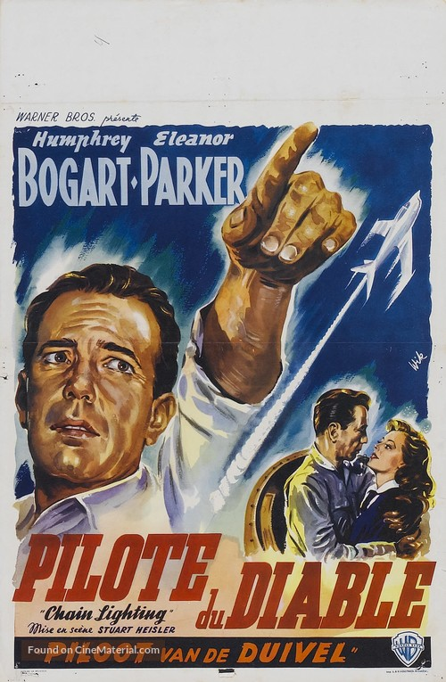 Chain Lightning - Belgian Movie Poster