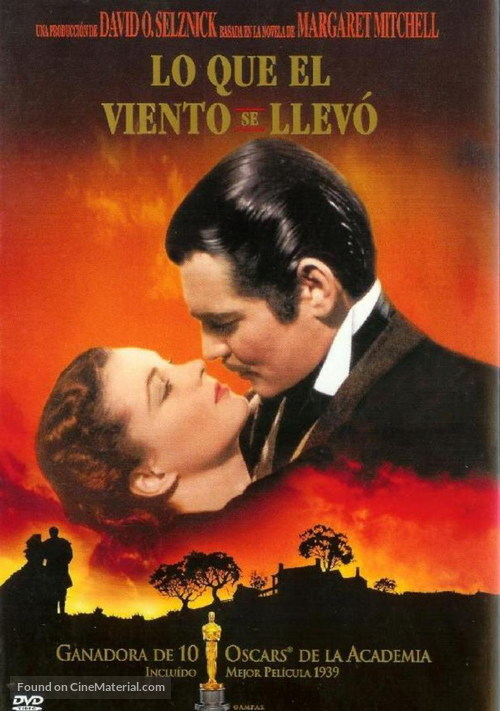 Gone with the Wind - Spanish Movie Cover