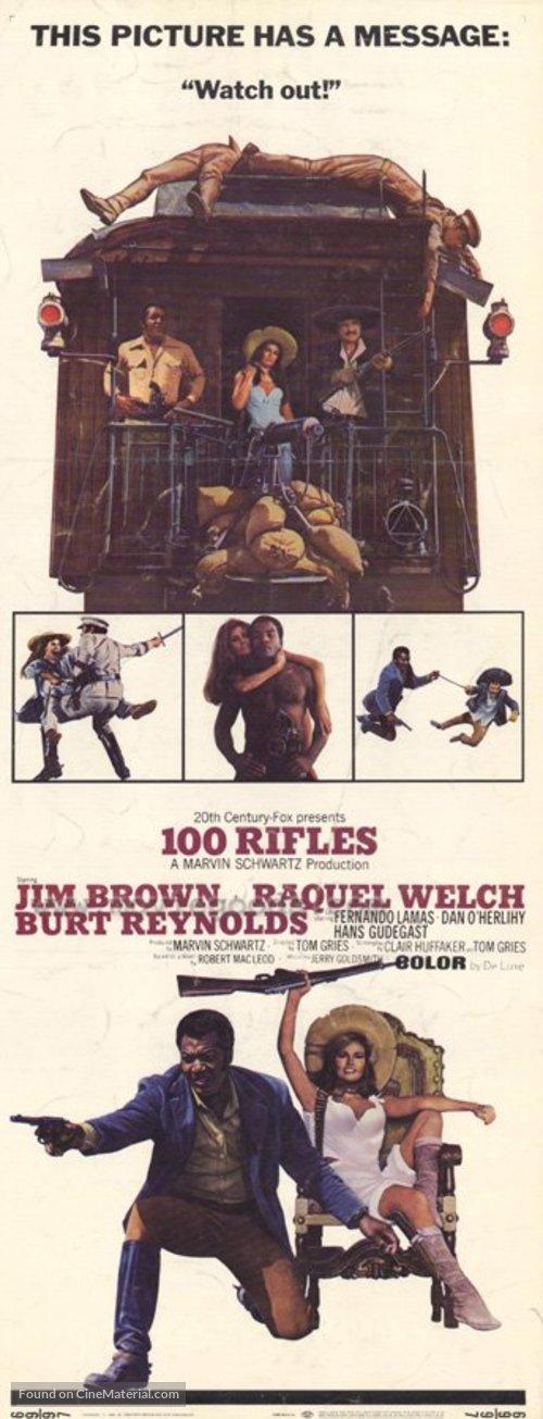 100 Rifles - Movie Poster