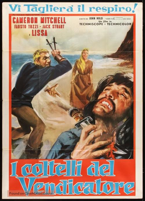 I coltelli del vendicatore - Italian Movie Poster