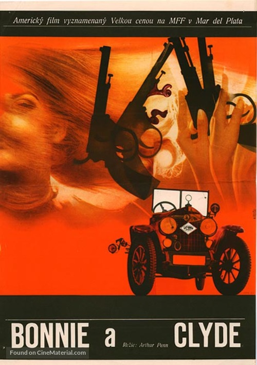 Bonnie and Clyde - Czech Movie Poster