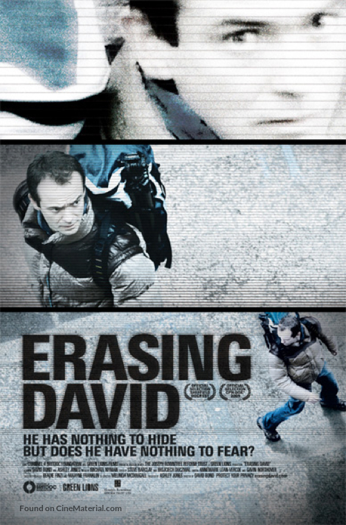 Erasing David - British Movie Poster