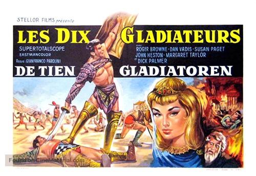 Dieci gladiatori, I - Belgian Movie Poster