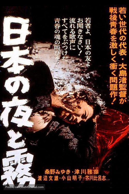 Nihon no yoru to kiri - Japanese Movie Poster