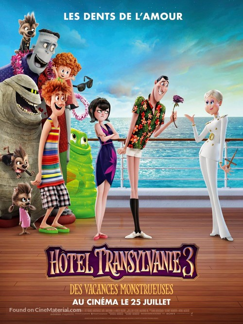 Hotel Transylvania 3: Summer Vacation - French Movie Poster