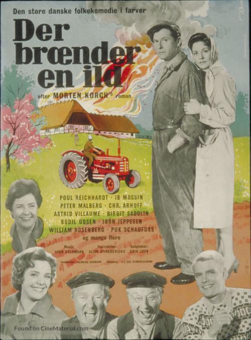 Der brænder en ild - Danish Movie Poster