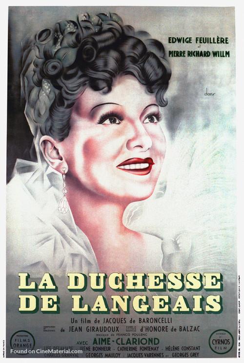La duchesse de Langeais - French Movie Poster
