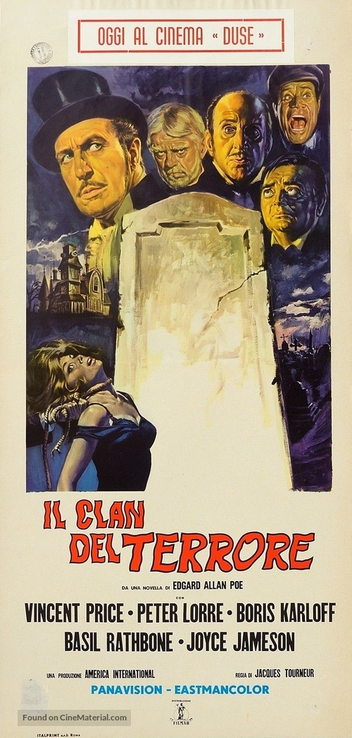 The Comedy of Terrors - Italian Movie Poster