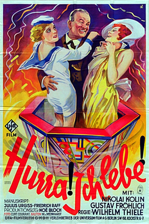 Hurrah! Ich lebe! - German Movie Poster