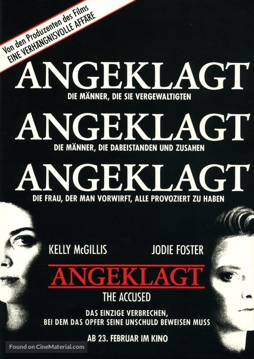 The Accused - German Movie Poster