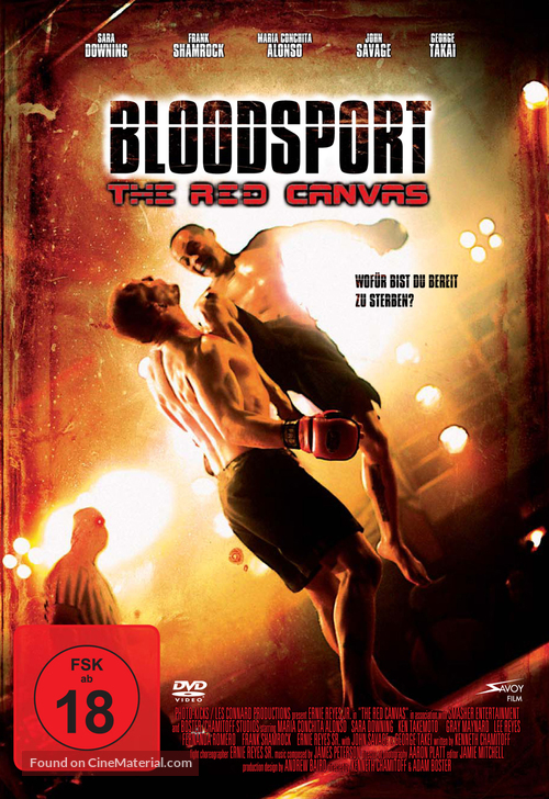 The Red Canvas - German DVD cover