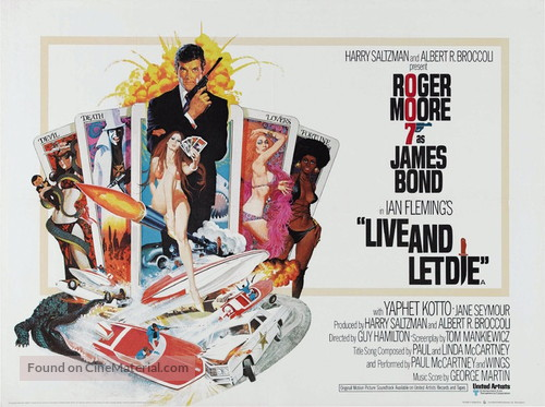 Live And Let Die - British Movie Poster