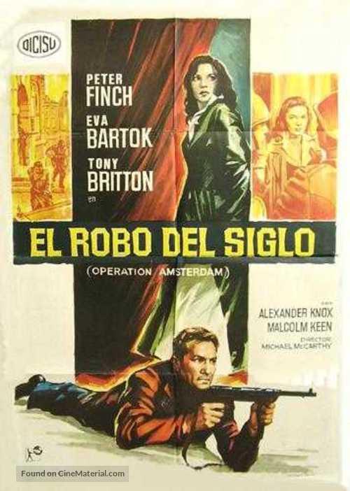 Operation Amsterdam - Spanish Movie Poster