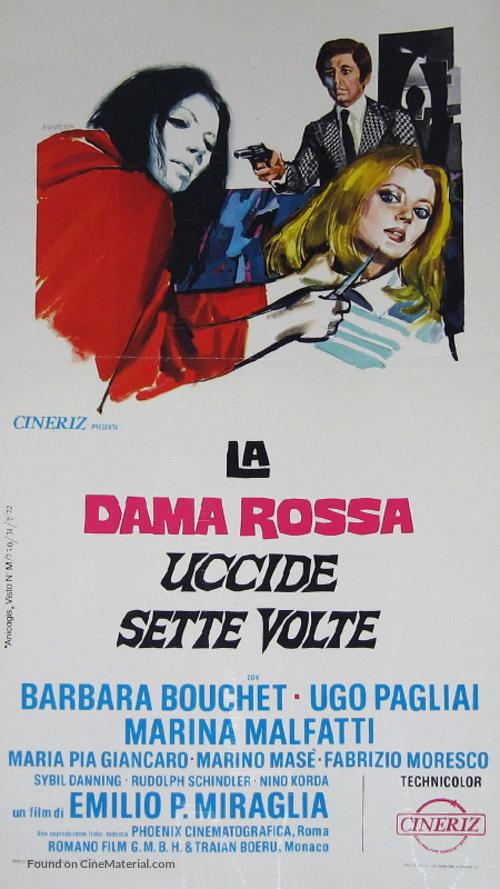 La dama rossa uccide sette volte - Italian Movie Poster