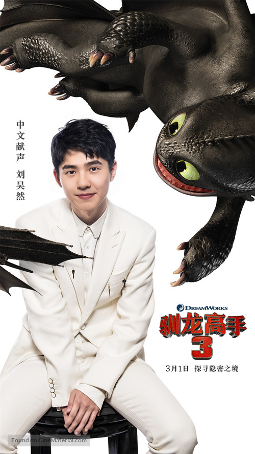 How to Train Your Dragon: The Hidden World - Chinese Movie Poster