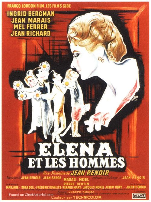 Elena et les hommes - French Movie Poster